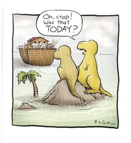 19c - Procrastination-Dinosaurs-Noahs-Ark-cartoon